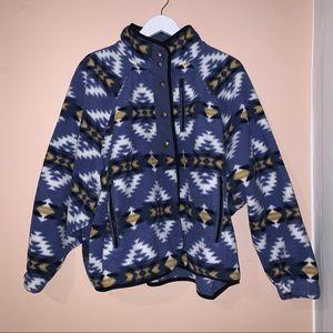 american eagle sherpa snap front jacket